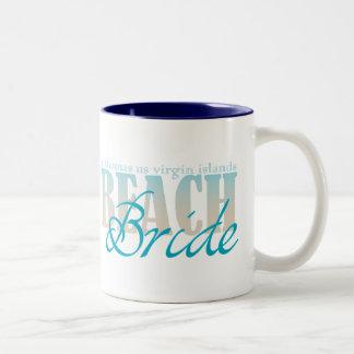 Taza de café de la novia de la playa de St Thomas