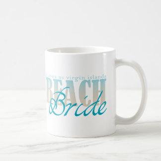Taza de café de la novia de la playa del St Croix
