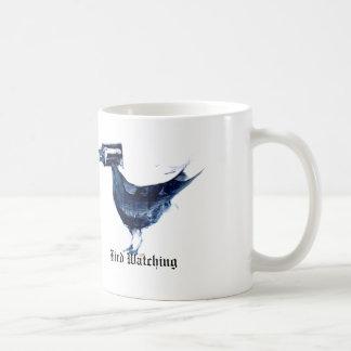 Taza de café de la observación de pájaros