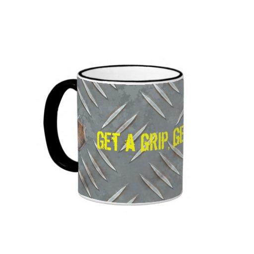 Taza de café de la placa del diamante