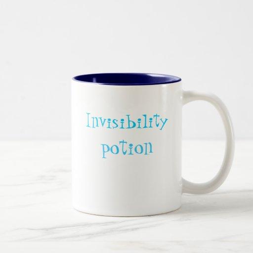 Taza de café de la poción de la invisibilidad