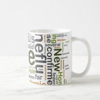 Taza de café de la predicción de la gripe de los c