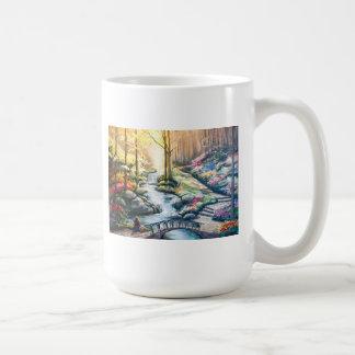 Taza de café de la primavera eterna