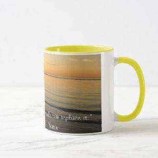 Taza de café de la puesta del sol de Cape Cod