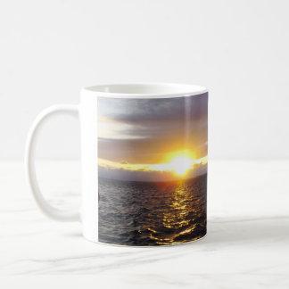 Taza de café de la puesta del sol de Key West