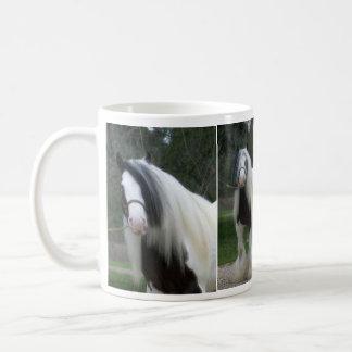 Taza de café de la raza del caballo - Vanner gitan