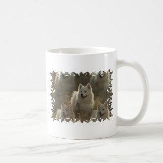 Taza de café de la raza del perro del samoyedo
