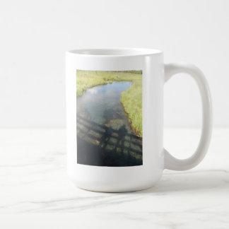 Taza de café de la reflexión del padre y del hijo