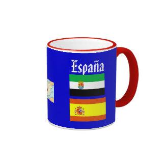 Taza de café de la región de Extremadura* España