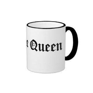Taza de café de la reina del cafeína