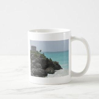 Taza de café de la ruina de Tulum