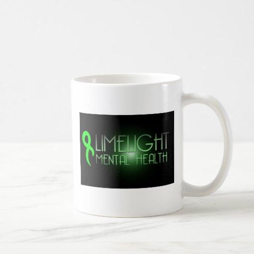 Taza de café de la salud mental de la luz de calci