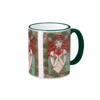 taza de café de la sirena del claddagh