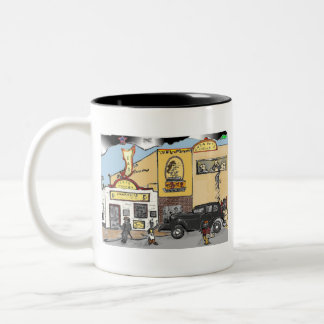 TAZA DE CAFÉ DE LA TABERNA DE TEJAS