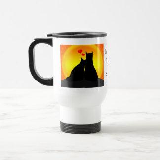 Taza de café de la tarjeta del día de San Valentín