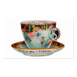 Taza de café de la taza de café del vintage tarjetas de visita