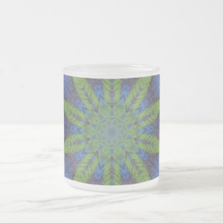 Taza de café de la taza hoja verde abstracta per