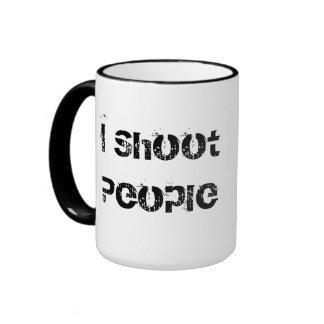 taza de café de la taza tiro estilo del cine de la