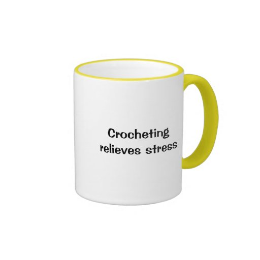 Taza de café de la tensión de Crochetingrelieves