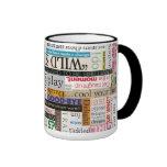 Taza de café de la tipografía de la frase de la im