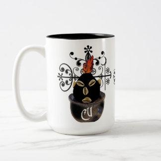Taza de café de la universidad de los cruces