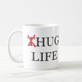 Taza de café de la vida del abrazo de la parodia