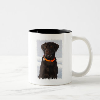 Taza de café de Labrador del chocolate