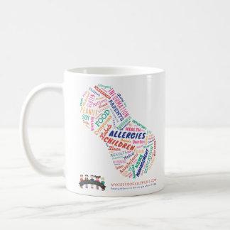 Taza de café de las alergias alimentarias de mi