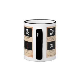 Taza de café de las banderas de pirata