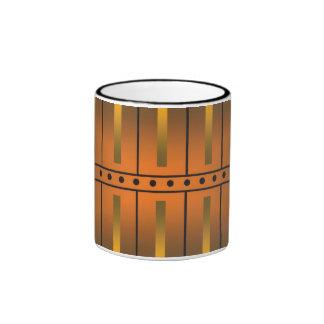 Taza de café de las barras de oro