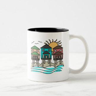 Taza de café de las casas de playa