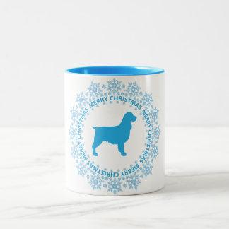 Taza de café de las Felices Navidad del perro de
