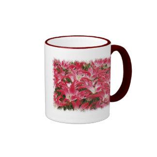 Taza de café de las fotos del tulipán
