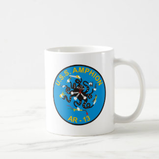 Taza de café de las insignias de la nave de USS Am
