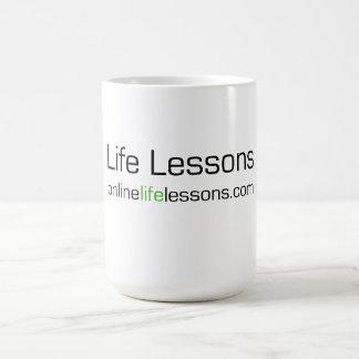 Taza de café de las lecciones de la vida