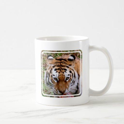 Taza de café de las marcas del tigre