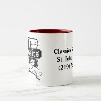 Taza de café de las obras clásicas