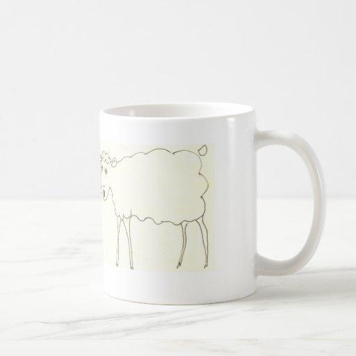 Taza de café de las ovejas del canto