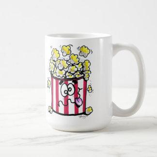 Taza de café de las palomitas