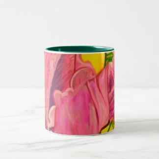 Taza de café de las petunias