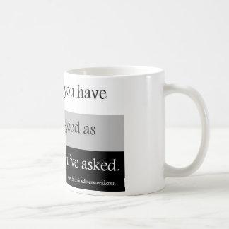 Taza de café de las preguntas y de las respuestas