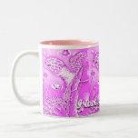 Taza de café de las tortugas de mar de las rosas f