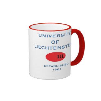 Taza de café de Liechtenstein del iUniversity de