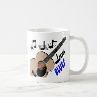 Taza de café de los azules del delta