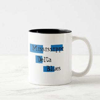 Taza de café de los azules del delta de Mississipp