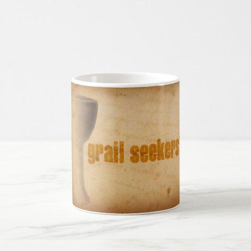 Taza de café de los buscadores del Grail