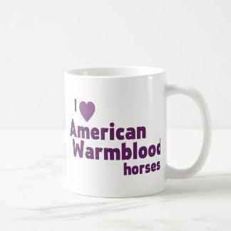 Taza de café de los caballos de Warmblood del