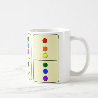 Taza de café de los dominós