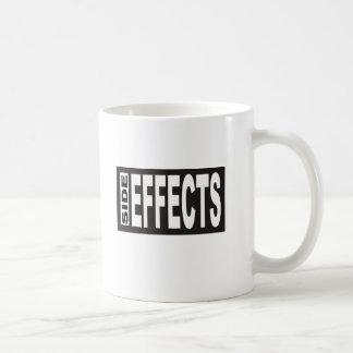 Taza de café de los efectos secundarios