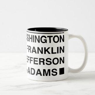 Taza de café de los fundadores